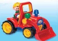 Adaptiertes Spielzeug Bagger